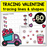 Valentine's Day Preschool Tracing Worksheet Activity