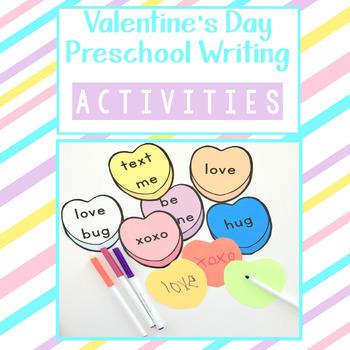Valentine S Day Preschool Writing Actitivies By Ms Stephanies Preschool