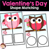 Valentine's Day Preschool and PreK Shape Matching Activity