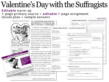 Valentine's Day Primary Source Analysis