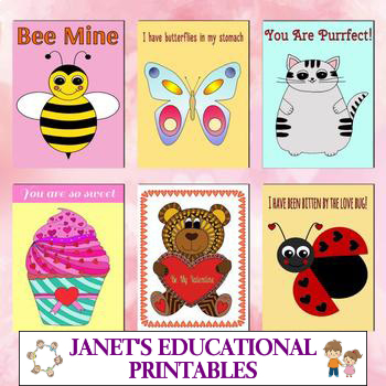 Valentine's Day Cards - Set of 6