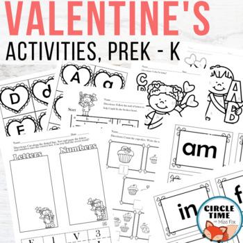 Preschool & Kindergarten Valentine Activities, Centers Morning Work