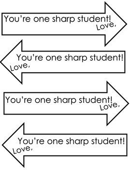 Valentine's Day Printable Pencil Arrow