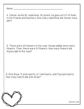 Valentine's Day Problem Solving - 2nd Grade