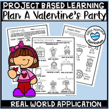 PBL Decimals, interpret the remainder, fraction Valentine's Day Activity