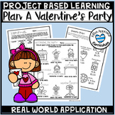 Valentines Day Project Based Learning Math Multiplication and Division PBL