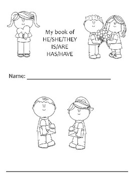 Valentine's Day Pronouns, Has/Have and Is/Are Mini Book