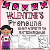 Valentine's Day Pronouns- No Prep Activities for Speech Th
