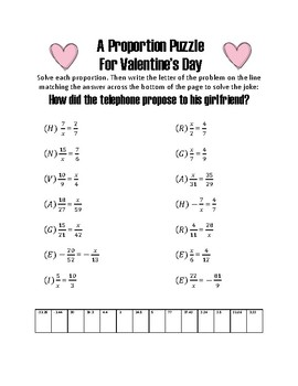 Valentine's Day Proportion Puzzle