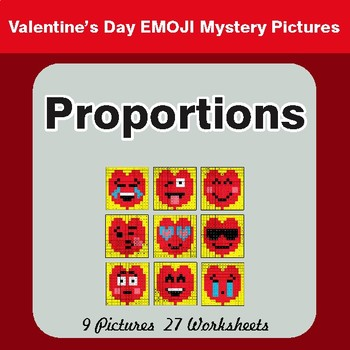 Proportions - Color-By-Number Valentine's Math Mystery Pictures