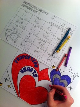 Valentine's Day Proportions: Solve and Color