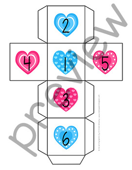 Valentine's Day Puppy Roll and Cover Game
