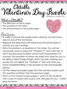 Valentines Day Puzzle