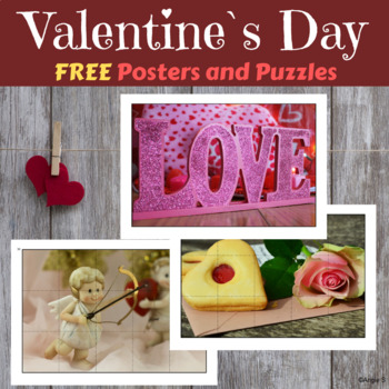 FREE Valentine`s Day Puzzles