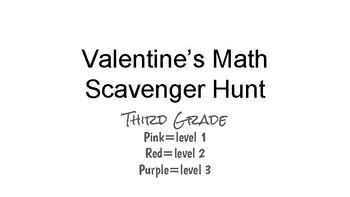 Valentine's Day QR Code-Math Scavenger Hunt