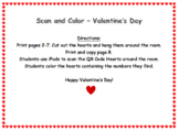 Valentine's Day QR Code Scan and Color Numbers 10-20