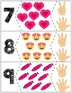 "Valentine's Day Quantity Puzzles #1-10 | ""Show me fingers"" Version"