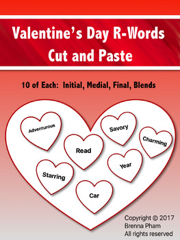 valentine s day r words by city lights speech therapy tpt