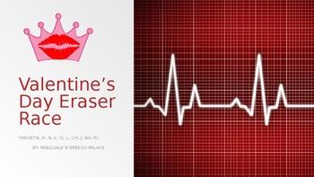 Valentine's Day Eraser Race