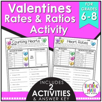 Valentine's Day Ratios & Rates Activity