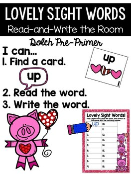 Valentine's Day Read and Write the Room {Kindergarten}