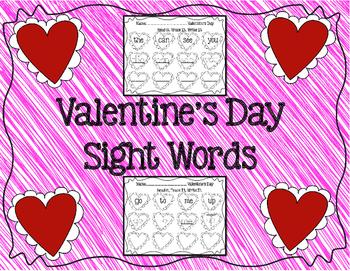 Valentine's Day- Read it, Trace it, Write it Sight Words
