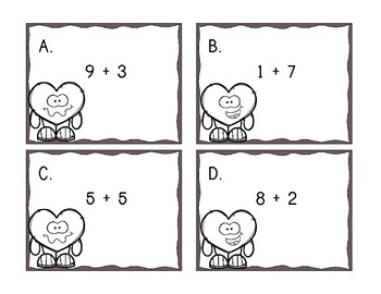 Valentine's Day Read the Room and Task Card Set - First Grade
