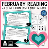 February Reading Task Cards