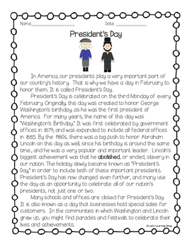 President's Day Reading