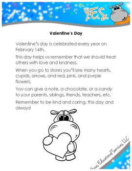 Valentine's Day Reading Activity Pack