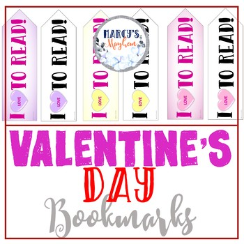 Valentine's Day Reading Bookmarks