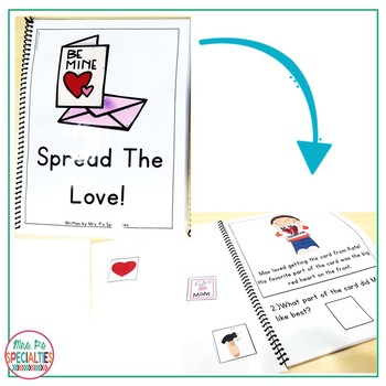 Valentine's Day Reading Comprehension Books With Visual Choices FREEBIE