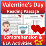 Valentine's Day Reading Comprehension February Passage and