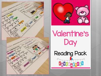 Valentine's Day Reading Comprehension Fun - Kindergarten