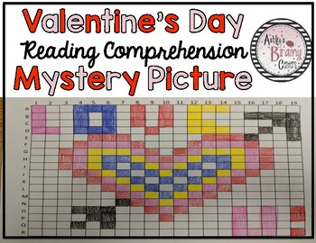 Valentine's Day Reading Comprehension Mystery Picture