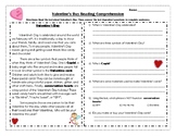 Valentine's Day Reading Comprehension Passage and Questions
