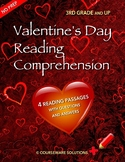 Valentine's Day Reading Comprehension for 3rd Grade and Up