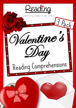Valentine's Day Reading Comprehensions - 3 Pack - Non-Fiction