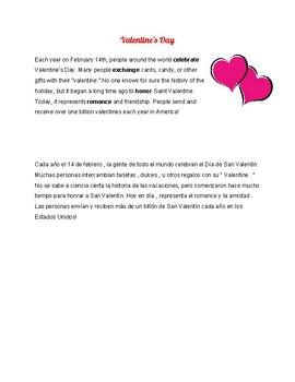 Valentine's Day Reading (English & Spanish)