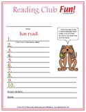 Valentine's Day Reading Log & Certificate Set