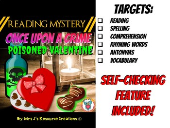 Valentine's Day Reading Comprehension Activity - Reading Mystery : Antonyms+++