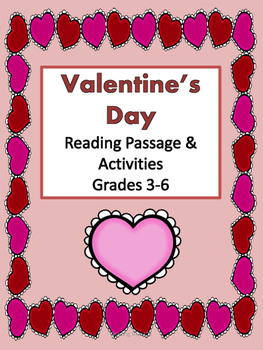 Valentine's Day Reading Passage and Activities