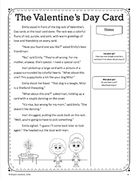 Valentine's Day Close Reading Passages - Stories and Writing Activities