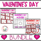 Valentine's Day Reading, Writing, Math, and Scavenger Hunt