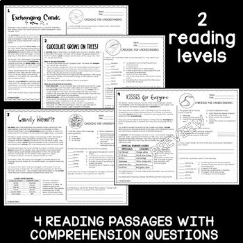 Valentine's Day Reading and Escape Room Bundle