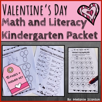 Valentine's Day Reading and Math Worksheets