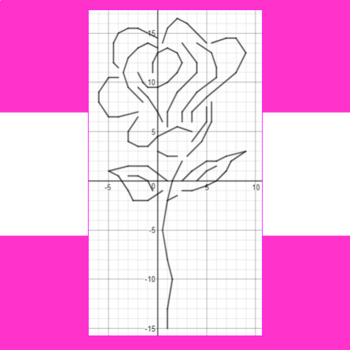 Valentine's Day - Red, Red Rose - A Math-Then-Graph Activity - Solve 30 Systems