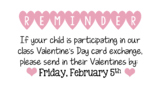 Valentine's Day Reminder Notice Letter to Parents Editable and Fill in PDF