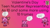 Valentine's Day Representing Teen Numbers