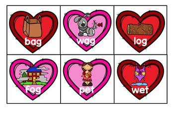 Valentine's Day Rhyming Center